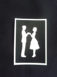 Couple holding hands stencils for etching on glass     Marriage present